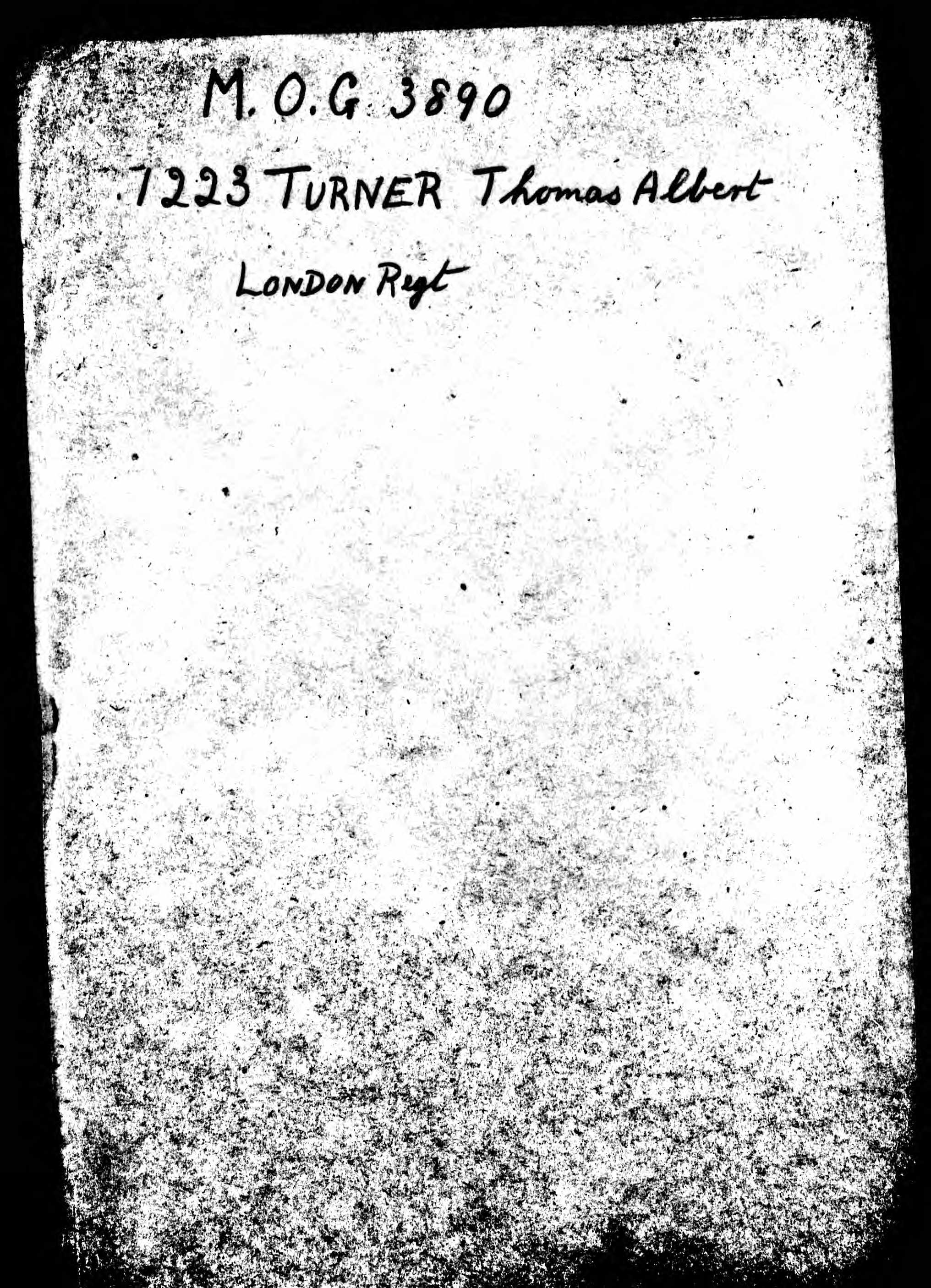 British Army WWI Pension Record for Thomas Albert Turner p01