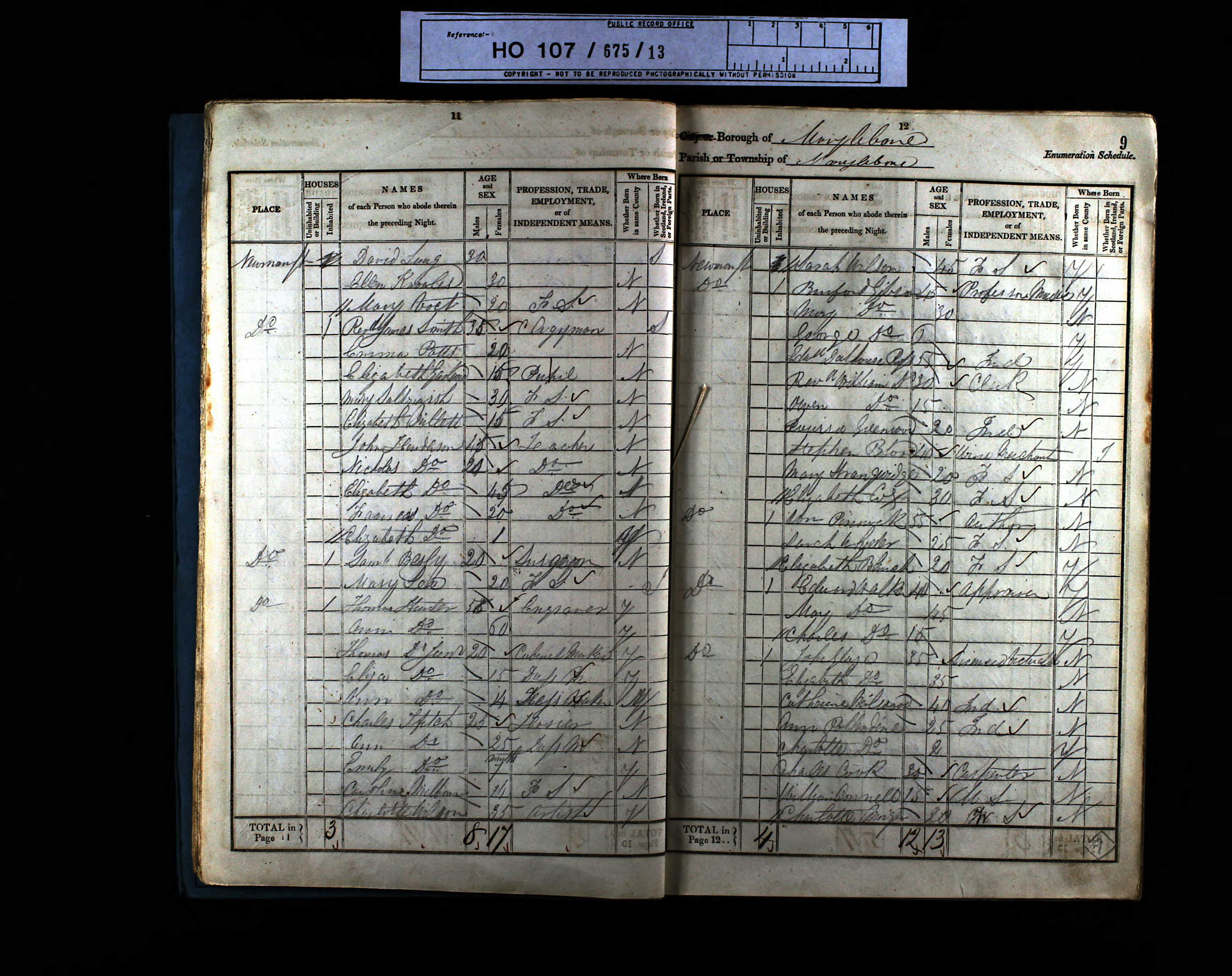 1841 England Census Record for Ann Pollendine (b1814)