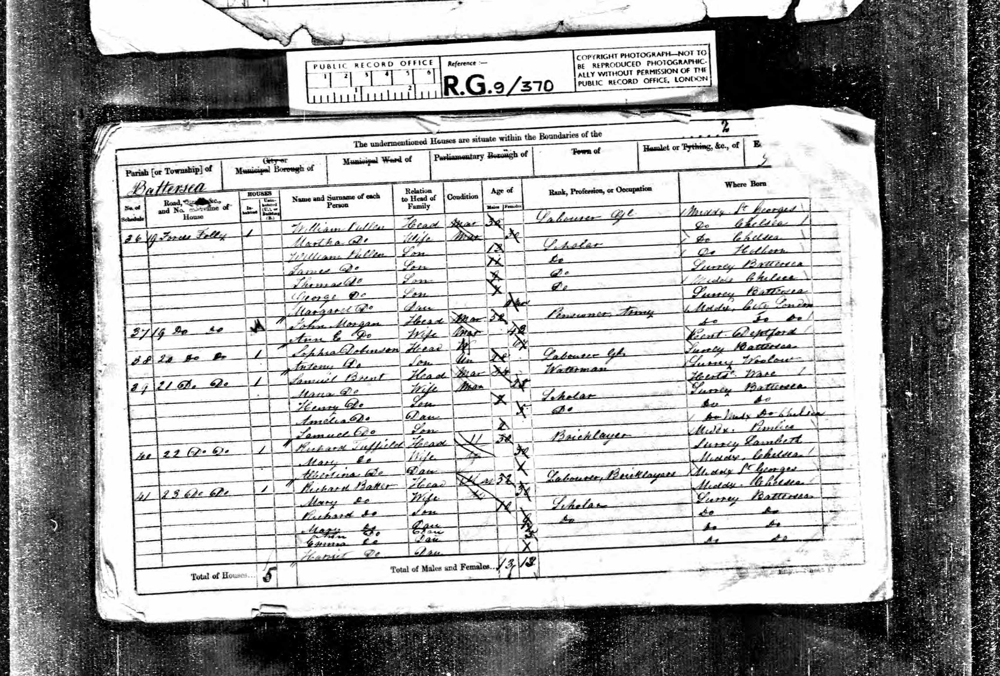 1861 England Census Record for Eliza Sophia Dobinson